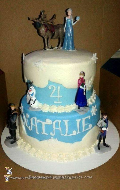 4th Birthday Frozen Character Cake