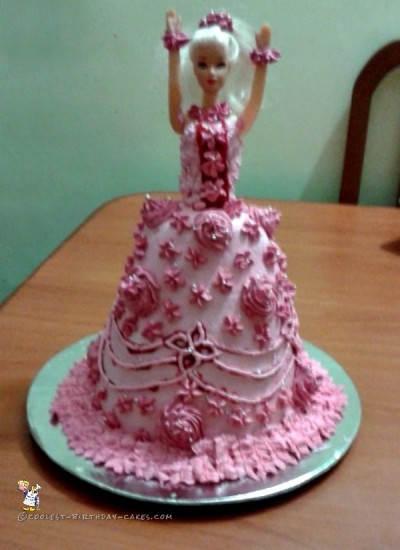 Coolest 11th Birthday Barbie Doll Cake