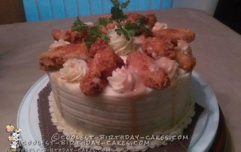 Cornbread Mashed Potato Chicken Cake