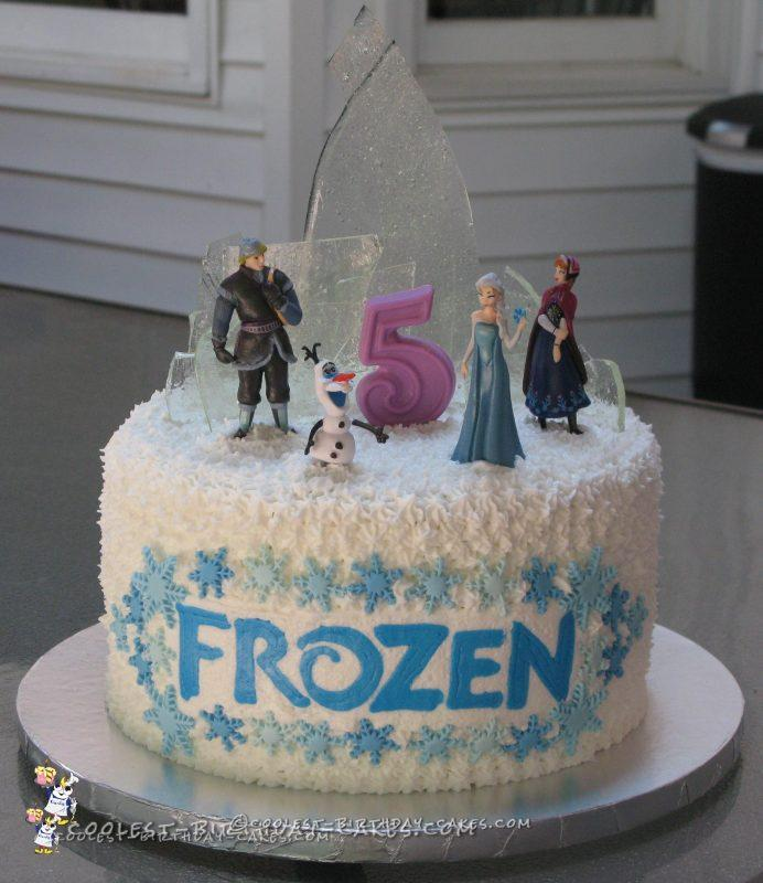 Frozen Birthday Cake With Ice Candy
