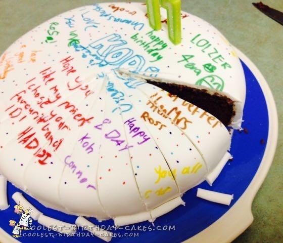 Birthday Message Graffiti Cake for Bad, Bad Boys
