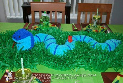 King Cobra Snake Birthday Cake