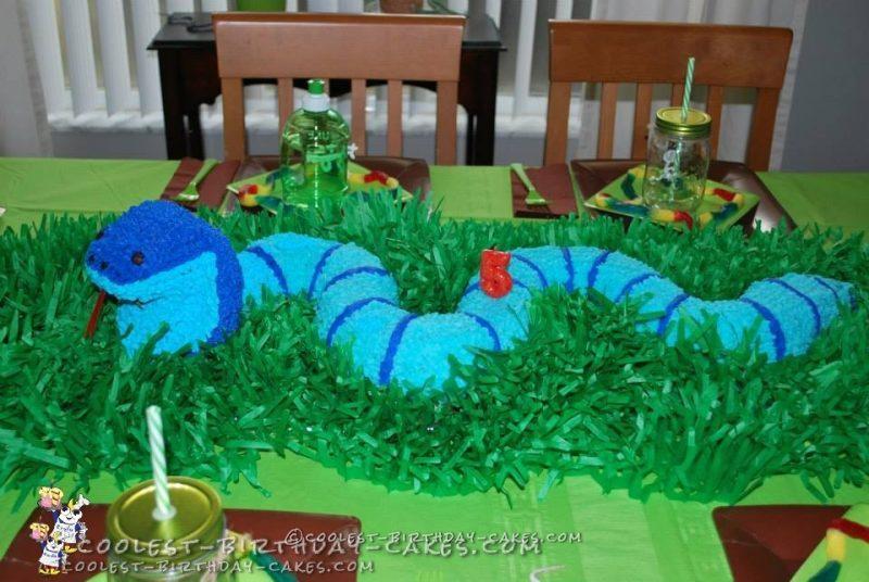 King Cobra Snake Birthday Cake