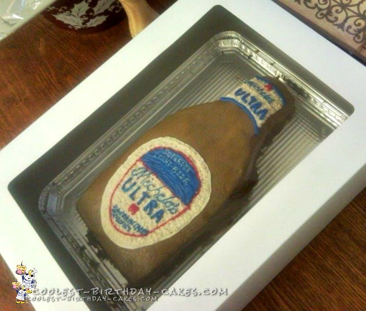 50th Birthday Michelob Ultra Beer Cake