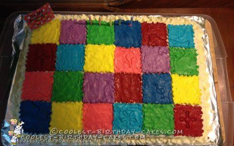 Coolest Patchwork Quilt Cake