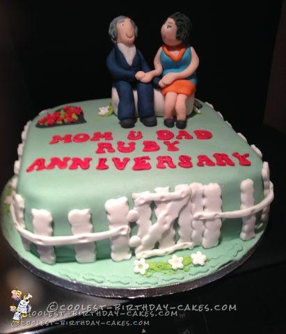 Coolest 40th Wedding Anniversary Cake