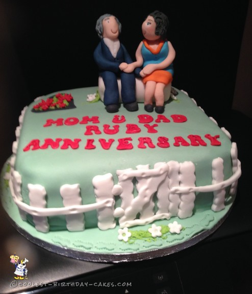 Coolest 40th Wedding Anniversary Cake