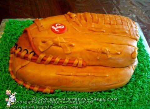 Coolest Cowhide Baseball Glove Cake
