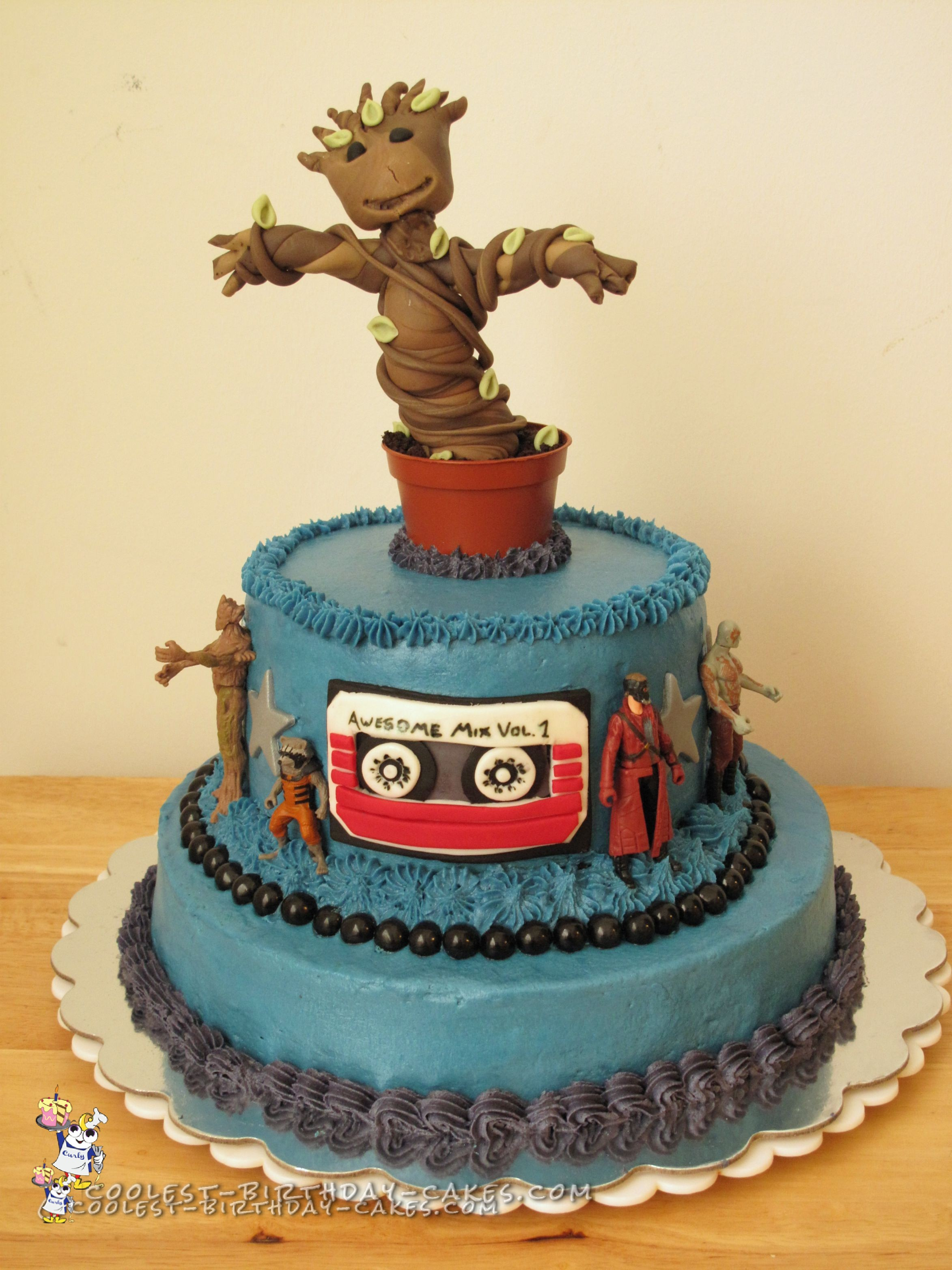 guardians of the galaxy wedding cake coolest baby groot cake 15009