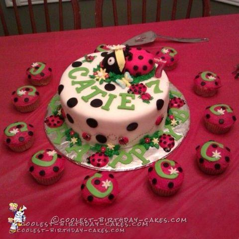 Cutest Ladybug Birthday Cake
