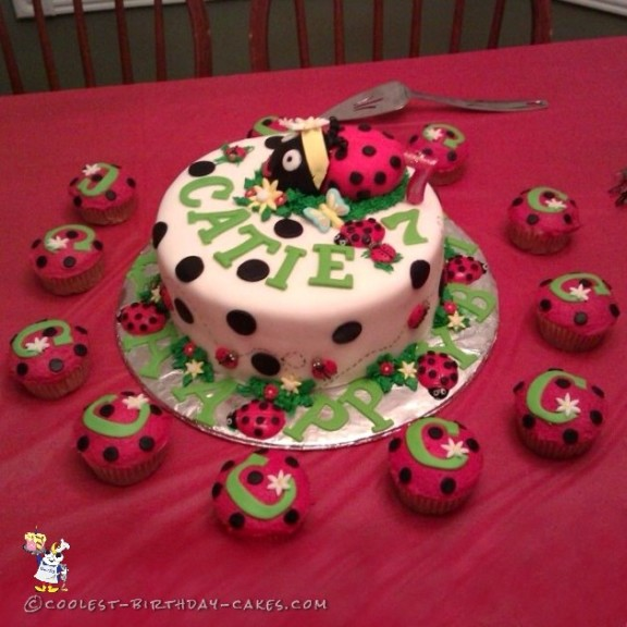Surprising 200 Coolest Homemade Ladybug Cakes For Your Diy Birthday Cake Funny Birthday Cards Online Alyptdamsfinfo