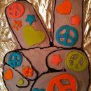 Last Minute Peace Sign Cake