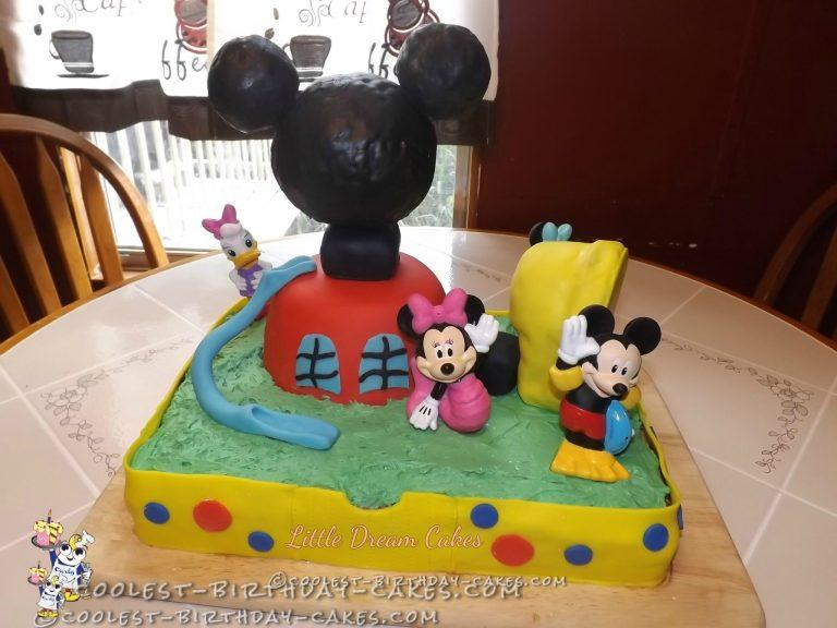 Awe Inspiring Mickey Mouse Clubhouse Birthday Cake Funny Birthday Cards Online Fluifree Goldxyz