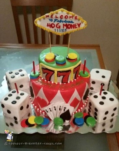 My Fabulous Las Vegas Birthday Cake