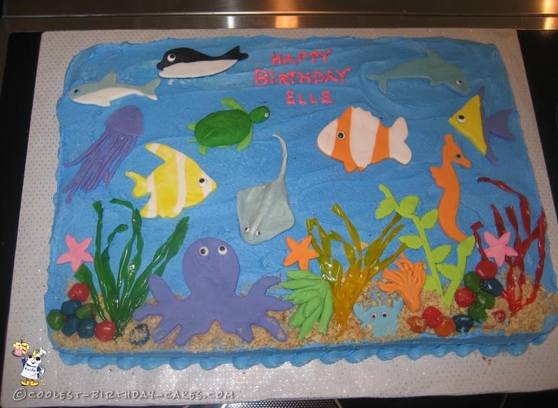 Cool Homemade Under The Sea Birthday Cake