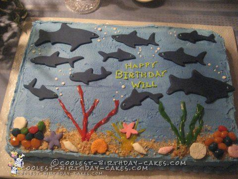 Coolest Under the Sea Birthday Cake