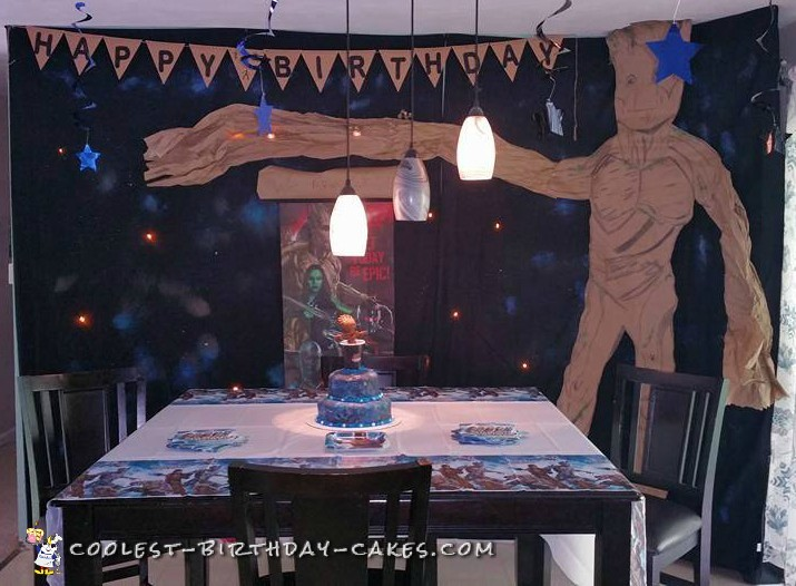 Coolest 8th Birthday Baby Groot Cake