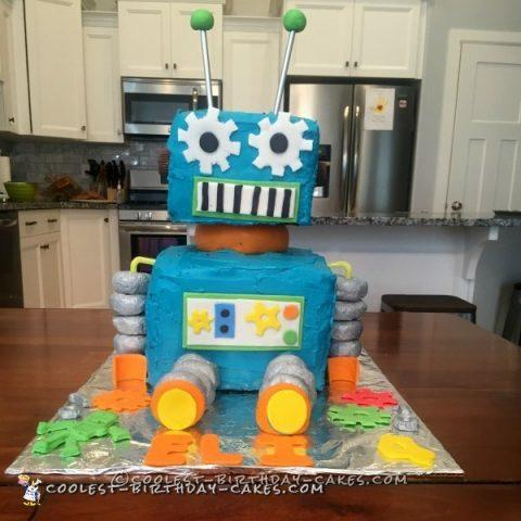 Coolest Robot Birthday Cake