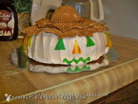 Cutest Fall Scarecrow Cake