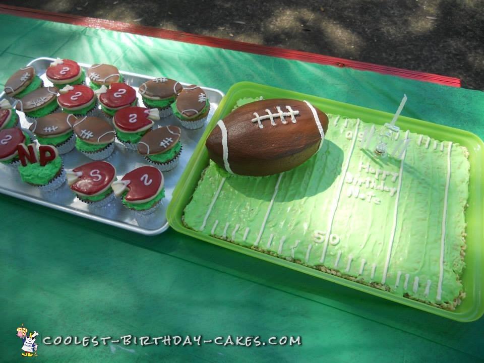 Easy Peasy Carved Football Cake