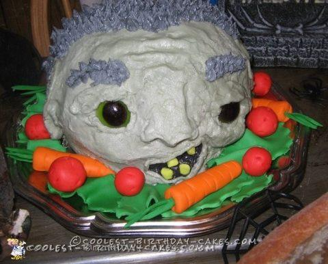 Head on a Platter Halloween Cake Idea