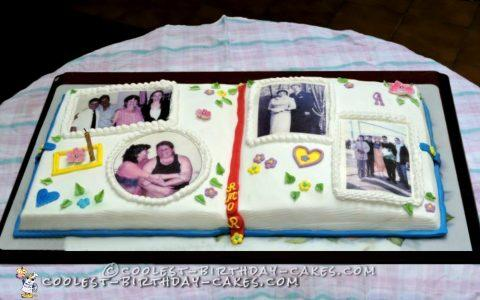 Memorable Birthday Scrapbook Cake