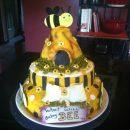 Bee Theme Gender Reveal Cake