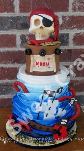 Coolest 3 Tier Pirate Cake
