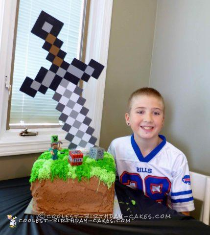 11th Birthday Minecraft Cake