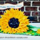 80th Birthday Sunflower Cake