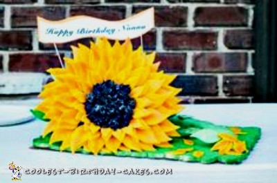 80th Birthday Sunflower Cake