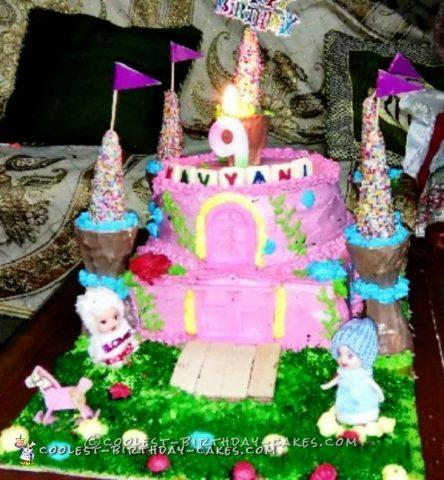 9th Birthday Castle Cake