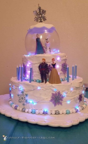 Light Up Frozen Cake
