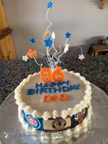 Sports Fan Cake for an Avid 86 Year Old