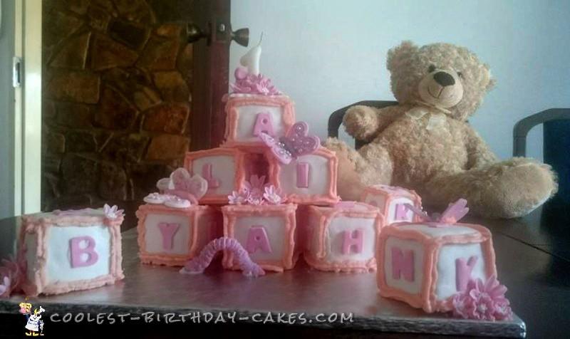 First Birthday Alphabet Blocks Cake