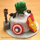 Marvel Comics Birthday Cakes