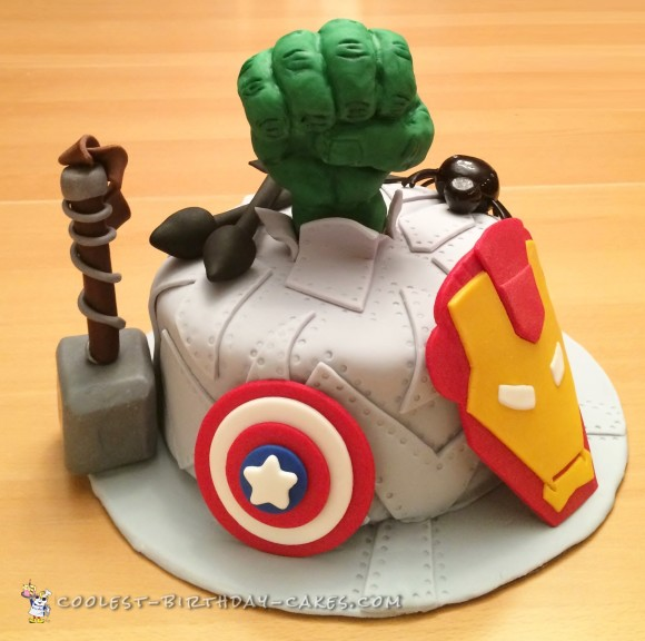 Surprising Coolest Ever Avengers Birthday Cake Funny Birthday Cards Online Alyptdamsfinfo