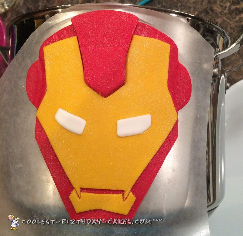 Iron Man's mask while hardening