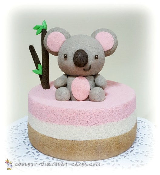 Pretty Chiffon Koala Bear Cake