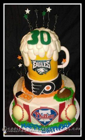 Philadelphia Teams Sports Theme Cake
