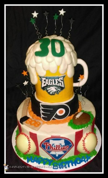 Philadelphia Teams Sports Theme Cake