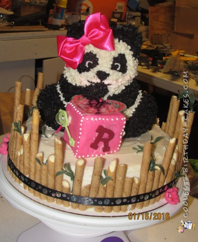 Awesome 3D Panda Bear Baby Shower Cake