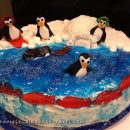 Perfect Penguin Friends Cake