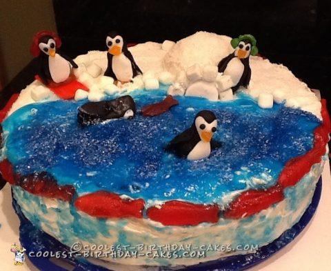 Perfect Penguin Friends Cake