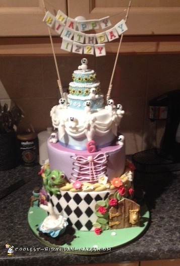 Awesome Alice in Wonderland/ Repunzel/ Frozen Fever cake