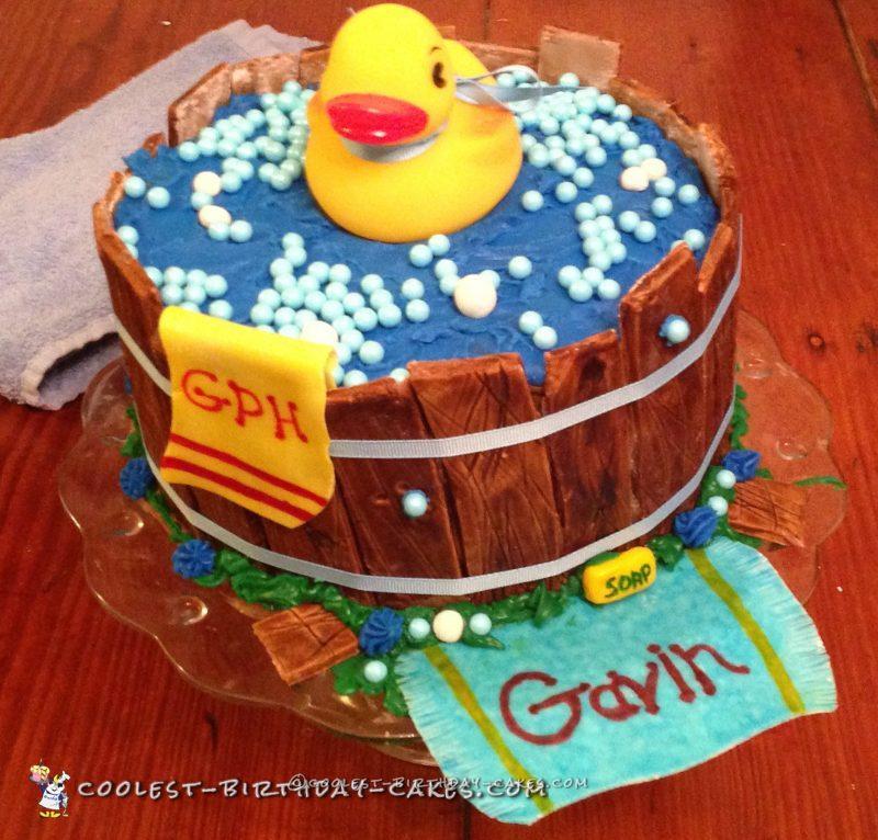 Cute Ducky Baby Shower Cake