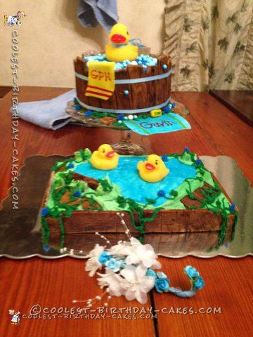 Cute Ducky Baby Shower Cake