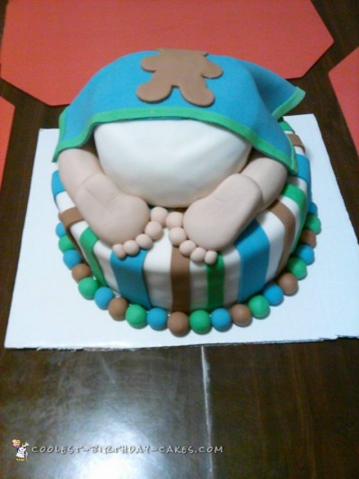 Cute Baby's Bottom Baby Shower Cake