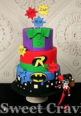 Cool 3 Tier Batman Cake