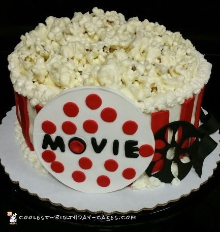 Awesome Dinner and a Movie Popcorn Cake